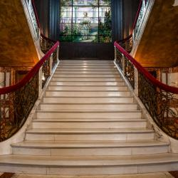 Staircase inside Swannanoa Palace