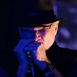 Playing Harmonica at Charlotte Blues Society