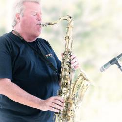 King Bees BIG Mike Kincaid on Saxophone