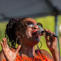 Val Woods Singing at the New River Blues Festival---Awesome voice