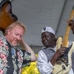 Ike Woods and Rob Hound Dog Baskerville playing New River Blues Festival