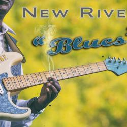 Ike Woods playing guitar at New River Blues Festival