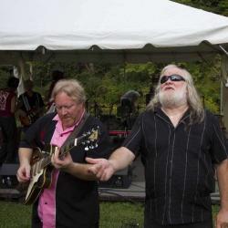 King Bees Guitarist Rob 'Hound Dog' Baskerville & Johnny Neel