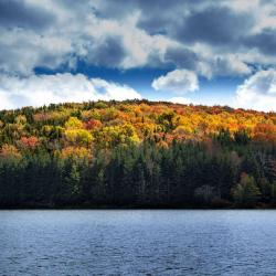 Spruce Knob Lake in the fall