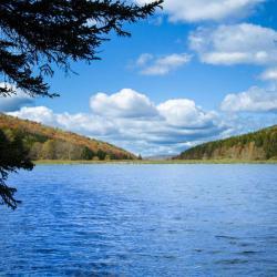 Spruce Knob Lake WV in the fall season