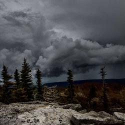 Storm coming at Bear Rock at Dolly Sods Wilderness WV