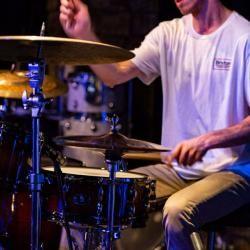 Dallas Dawson on drums