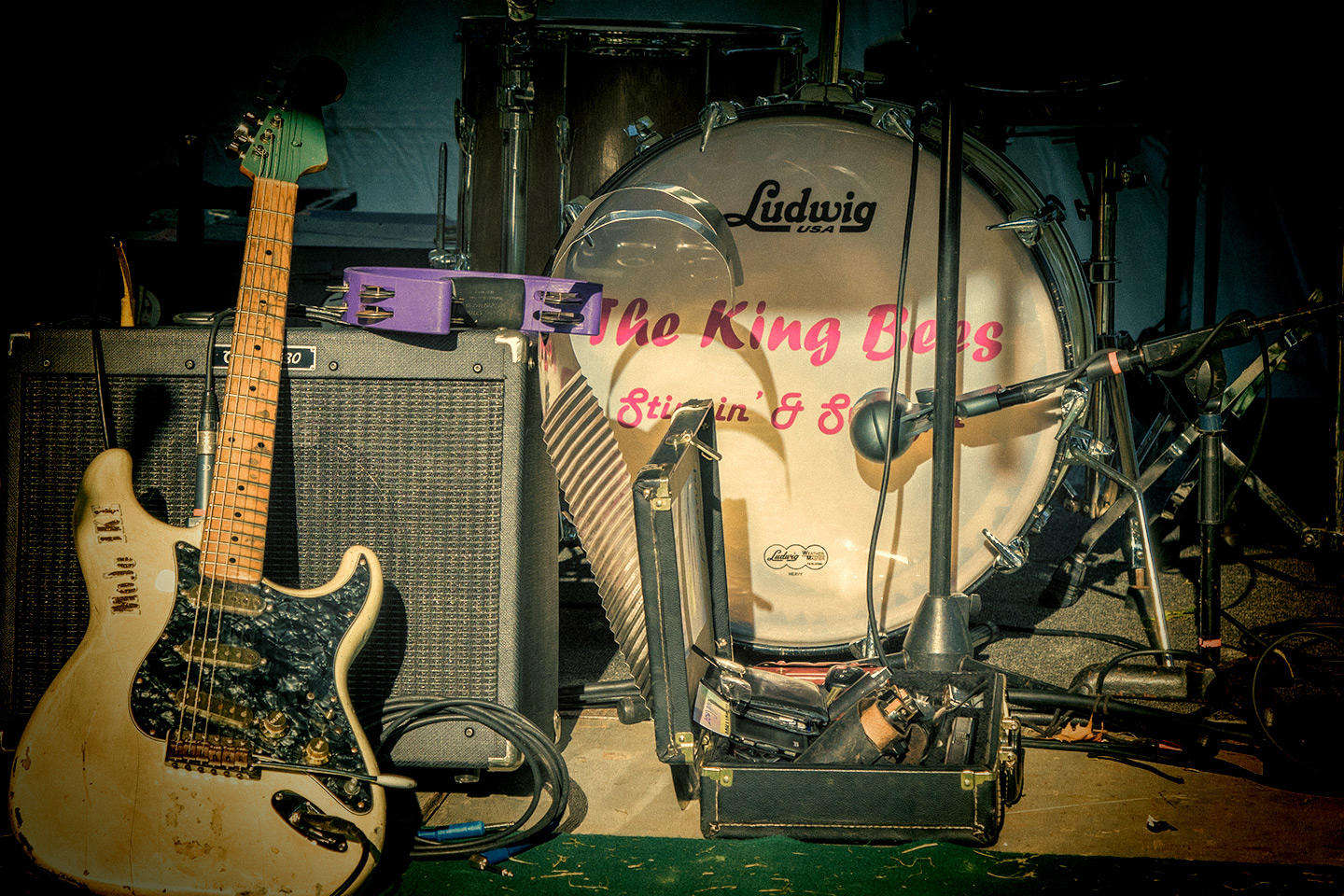 Ikes Guitar and King Bees Drum Set